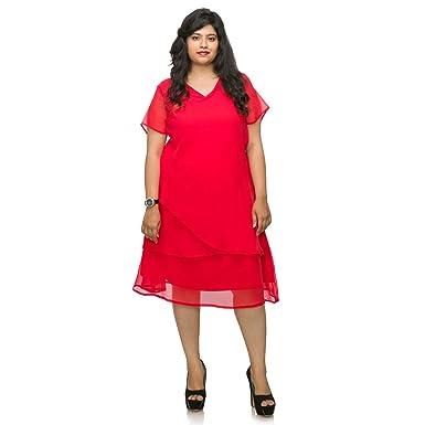 46b88d71f6a46 Xxllent Women s Plus Size Dress  Amazon.in  Clothing   Accessories
