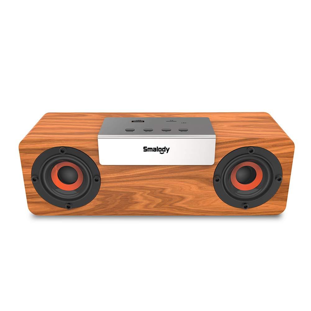 yunbox299_スピーカープレーヤー ラウドスピーカーホーン Smalody 木製テレビコンピュータフォン ワイヤレス TWS Bluetoothスピーカー 音楽プレーヤー B07QP73641
