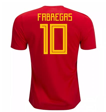 sneakers for cheap f3c7a 930af Amazon.com : 2018-19 Spain Home Football Soccer T-Shirt ...