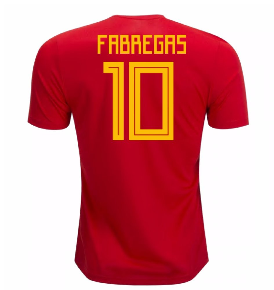 2018-19 Spain Home Football Soccer T-Shirt Trikot (Cesc Fabregas 10)
