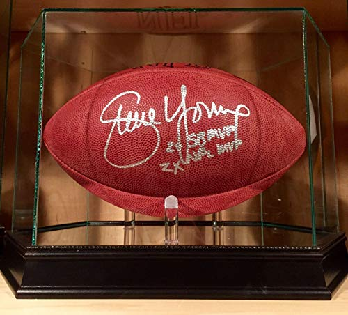 Steve Young Signed Official Wilson NFL Leather Game Day Football COA 49er's - PSA/DNA Certified - Autographed Footballs