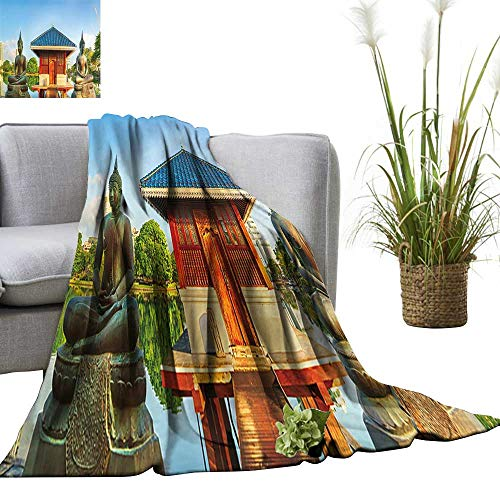 YOYI Bed Blanket Seema Malaka Temple on Beira Lake Colombo,Sri Lanka Panorama Comfortable Home Decor 60