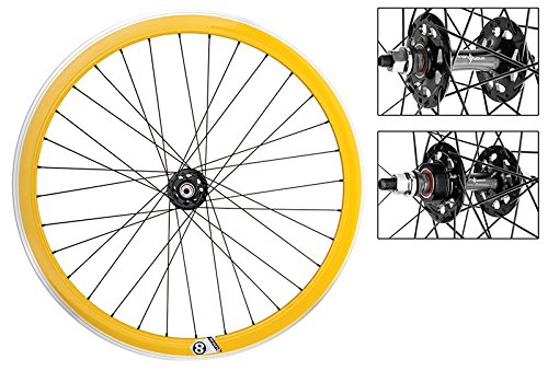 WheelMaster Bicycle Wheel Set, 700 OR8 42mm YL MSW 32 OR8 FX/FW SEAL BK 120mm DTI2.0BK (Fx Seal)