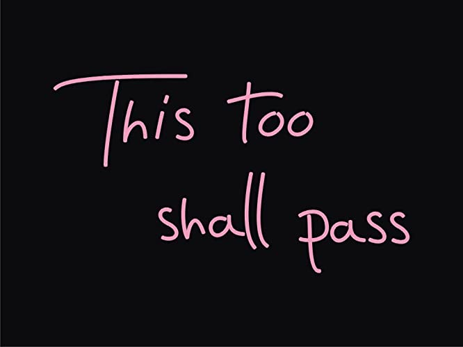 Amazon.com: This Too Shall Pass Real Glass Neon Sign For Bedroom ...
