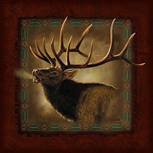 Ode-Rin Art Home And kitchen Wall Art Print Paintings Canvas Wood Framed Oil Paintings Brown Elk Art for Home Decoration Ready to (Buddha Sky Bar Halloween Party)