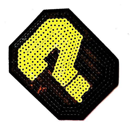 3.7'' X 3.2'' Yellow Exclamation Mark Cartoon Kids