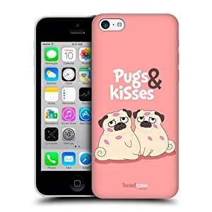 Head Case Designs Piper The Pug And Kisses Back Case For Apple iPhone 5c