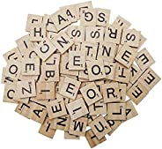 MANSHU 600PCS Wooden Scrabble Tiles, Scrabble Letters for Crafts - Making Alphabet Coasters and Scrabble Cross