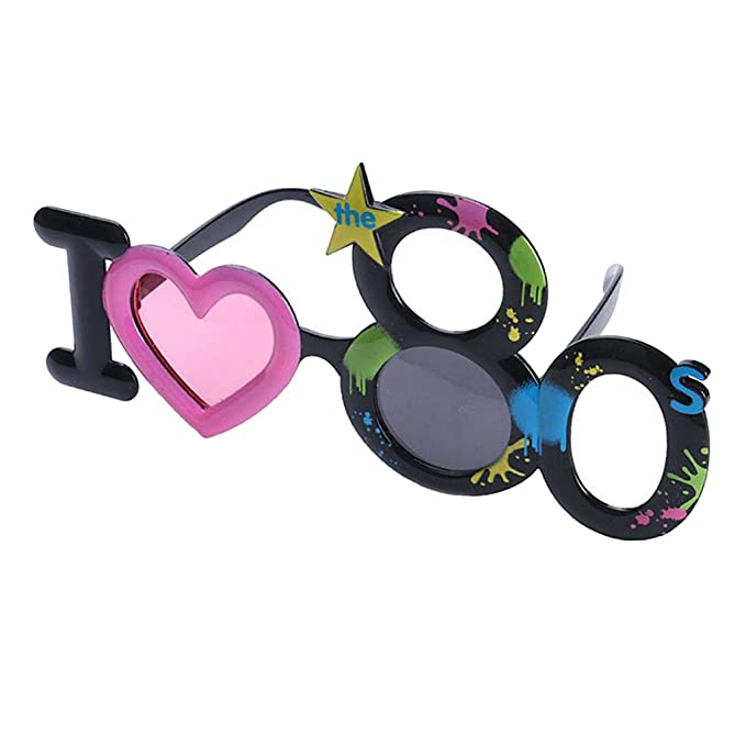89483f2abb Fenteer Novelty I LOVE The 80s Sunglasses Costume  Amazon.co.uk  Kitchen    Home