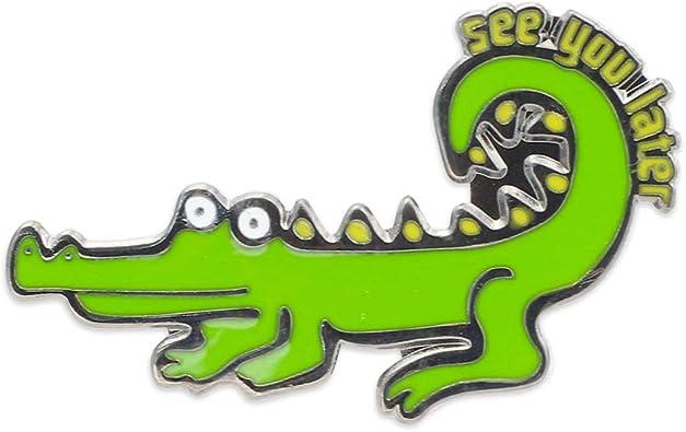 StockPins Alligator Lapel Pin Antique Brass