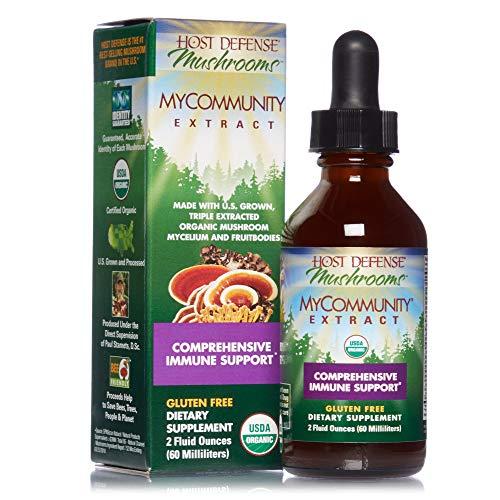 Host Defense, MyCommunity Extract, Advanced Immune Support, Mushroom Supplement with Lion's Mane, Reishi, Vegan, Organic…