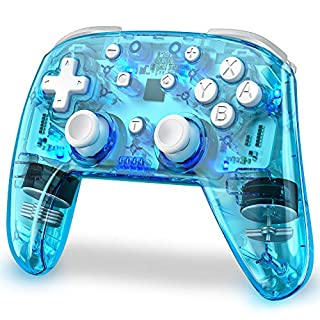 Wireless Switch Controller for Nintendo, Replace for Nintendo Switch Controller, Switch Remote Gamepads for Nintendo Switch/Switch Lite with LED Backlight, Turbo, Vibration, Motion Functions