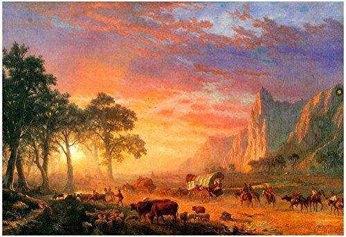 Laminated Albert Bierstadt The Oregon Trail Art Print Poster