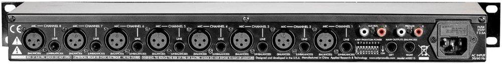 ART MX821S Rackmount Mic/Line Mixer by ART (Image #2)