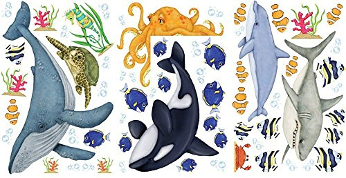 Under the Water Sea Life Wall Decor Stickers ()