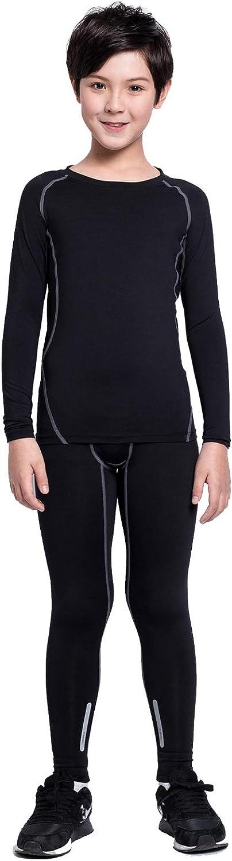 Kid's Thermal Underwear Set Long John Skin Base Layer Tops and Bottom Moisture Wicking
