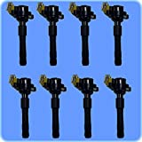 rolls royce parts - AD AutoParts High Performance Ignition Coil Set (8) For BMW Land Rover Rolls Royce