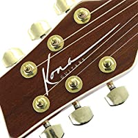 Kona Guitars K2LN Left-Handed Acoustic Electric Dreadnought Cutaway Guitar in Natural High Gloss Finish