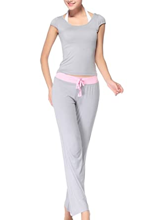 Conjunto Deportivo Yoga Camiseta Shirts Top Y Pantalones ...