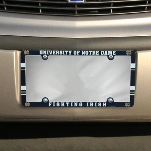 NCAA License Plate with Full Color Frame, Notre Dame Fighting Irish