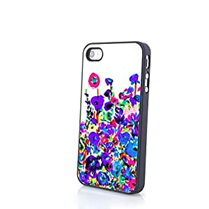 CasePC Phone Cases Charming Liveliy Beautiful Flowers Matte Pattern fit for Colorful iPhone 4/4S Cases