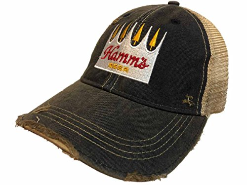 Hamm's Brewing Company Retro Brand Navy Vintage Mesh Beer Adjustable Hat Cap