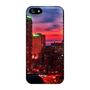 High-quality Durable Protection Case For Iphone 5/5s(red Sunset In Pittsburgh)