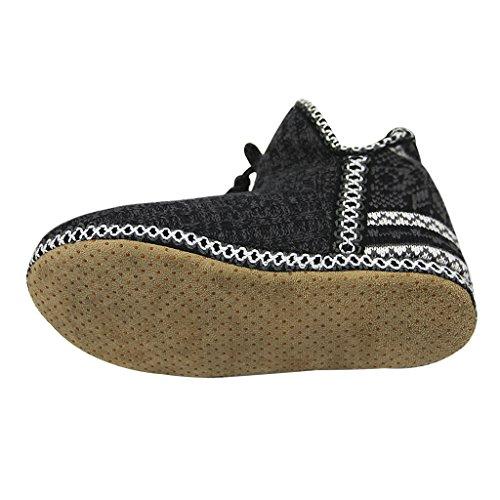 Black Snow Slippers Socks Bootie Girl Sherpa Ankle Fleece Women Indoor Boots Warm Knit Xnv7aqWwpx