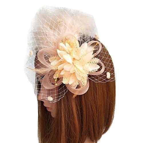 Coolr Fascinators Hair Clip Headband Feather Flower Veil Wedding Headwear Bridal 1920s Headpiece supplier