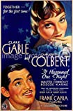 It Happened One Night 1934 Vintage Movie Poster Art Version 2 11x17