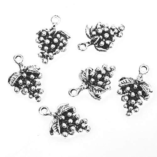 silver grape charms - 6