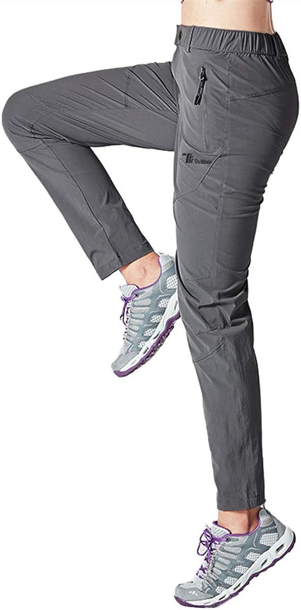 donhobo Pantaloni da Trekking da Donna per attivit/à allAria Aperta Pantaloni da Campeggio Quick Dry Ultraleggeri Protezione UV Traspirante Resistenti allUsura