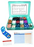 Vitamin & Supplement Pill Organizer Tray with 17 Compartments - Includes Free Pill Cutter, Medication Map & Medical Alert Card - Great Daily Pill Organizer - Large Supplement Organizer (Blue)