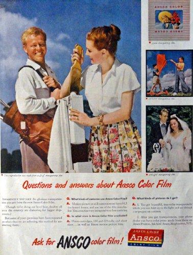 Color Ansco Film (Ansco Color Film, 40's Print Advertisment. Color Illustration, 10 1/2
