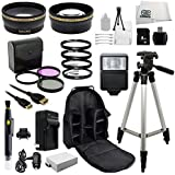 Outdoor Ultimate Accessory Package for the Canon EOS Rebel T2i, T3i, T4i, T5i, 550D, 600D, 650D, 700D, Kiss X4, X5, Kiss X6 & Kiss X7i Digital SLR Camera (Which Fits Canon 18-55mm, 55-250mm, 75-300mm III, 70-300mm IS USM, 28mm f1.8, 50mm F1.4, 85mm F1.8 Or 100mm F2.8 Lens)