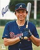 Signed Darrell Evans Photo - W bat 8x10 W coa - Autographed MLB Photos