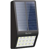Recbot Luz Solar Jardín 15 LED 2000 mAh