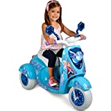 Disney Frozen 6V Electric Powered Ride on Scooter for Girls, Blue