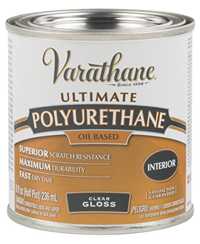 Gloss Interior Polyurethane - Rust-Oleum Varathane 9061H 1/2-Pint Interior Oil Polyurethane, Gloss Finish