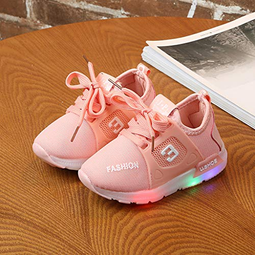 Baby Toddler Girls Led Light Shoes Sneakers for 1-6 Years Old Kids Soft Luminous Outdoor Sport Running Shoes