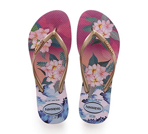 0064 Mujer Chanclas Havaianas Multicolor Para Sunset Tropical hollywood Rose q4g4xS6