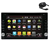 Navigation Seller- Privileged Sale New Brand WIFI Modem Android 4.4.4 In-Dash Double Din 6.2 Inch Capacitive Touch Screen Car DVD Player Stereo GPS Navigation—Enjoy Your Journey+Backup Camera