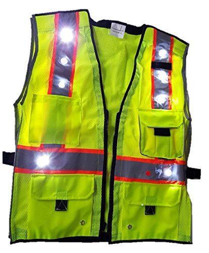 HIGH VISIBILITY VEST - ANSI CLASS 2 COMPLIANT LED SAFETY ...