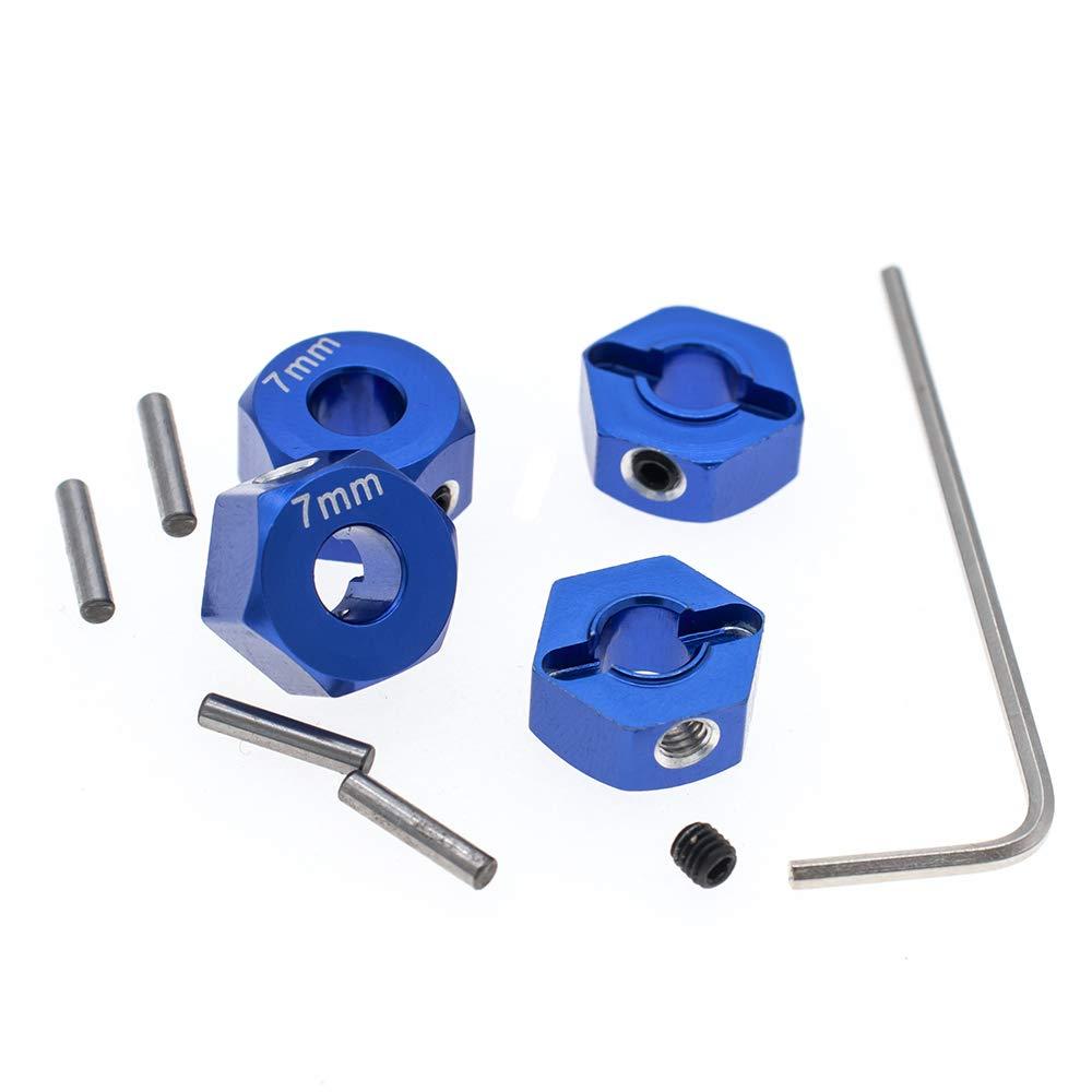 4pcs RC Model Hop-ups 12mm Hex Wheel Hubs 7.0mm/&5.5mm Thick for Traxxas 1//10 2WD Rustler,Slash,Stampede,Nitro Slash-Replaces Part 1654 3654