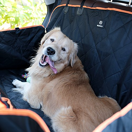 Cheap Rexway 2018 Dog Seat Cover for Back Seat, Waterproof Pet Hammock with Viewing Window and Side Flaps, Protector for Cars/SUVs/Trucks