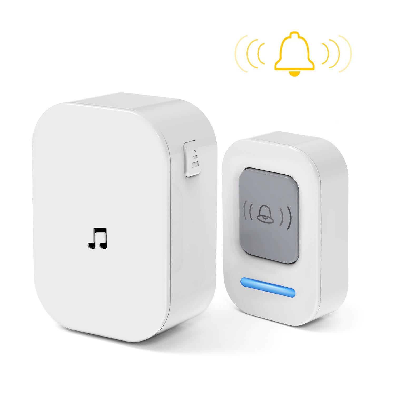 Doorbell, Wireless Doorbell Operating at 1000 Feet with 60 Melodies, 5 Volume Levels & LED Flash Door Bell for Home, Classroom, Bedroom, Office etc.