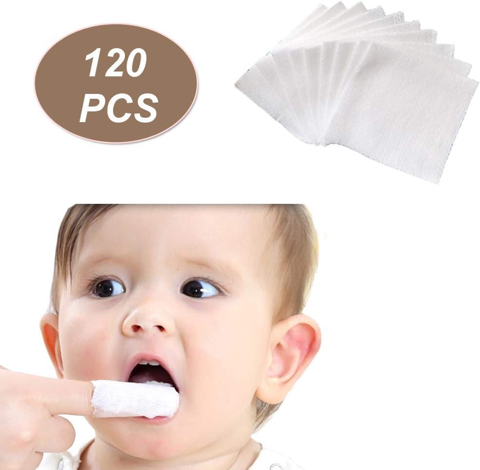 Yrxllye Babys Teeth Soft Gauze Infant Finger Clean Oral Toothbrush 120Pcs Infant Mouth Cleaner for 0-36 Month