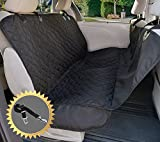 Arf Pets Dog Seat Cover for Cars, Trucks, Suv's, Hammock Style , Seat Anchors, Side Flaps, Waterproof & NonSlip Backing, Universal Design With BONUS Seat Belt Included
