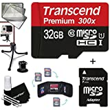 Transcend 32GB MicroSDHC Class10 300x High Speed Memory Card + Adapter KIT for GoPro Hero4 Session, HERO4 Hero 4, Hero3+ Hero 3+, HERO3 Hero 3, HERO2 Hero 2, Hero 3 Black / Silver Edition, Hero2 Outdoor Edition Hero 960, HD Motorsports HERO, Surf Hero, He