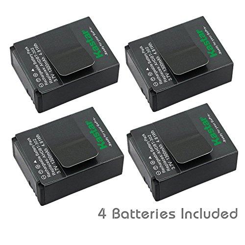Kastar GOPRO3 Battery (4-Pack) for GoPro HD HERO3, HERO3+, AHDBT-302 work with GoPro AHDBT-201, AHDBT-301, AHDBT-302